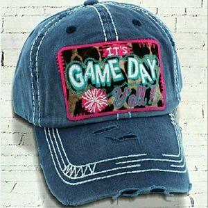 Accessories - 'It's Game Day Ya'll' Distressed Cap